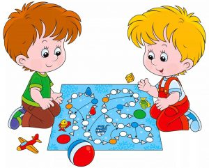 Веселые дети учатся играя в игры