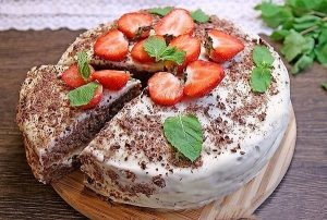 торт на кефире пошаговый рецепт