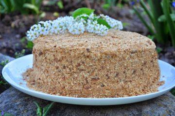 """Торт """"Елена"""" - оригинальный торт с песочными коржами"""