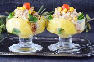 ананасовый салат в креманках