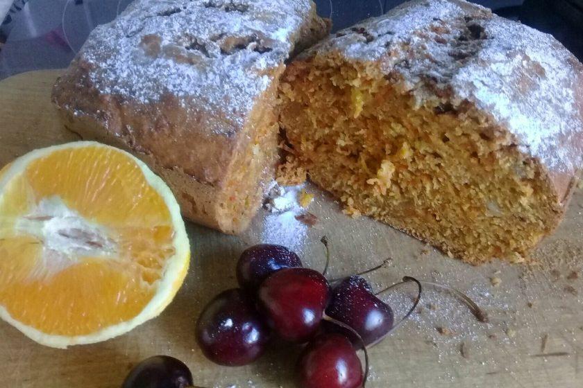 морковный пирог с апельсином аппетитное фото