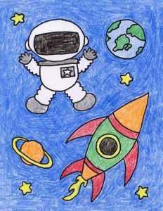 Рисунок космонавт
