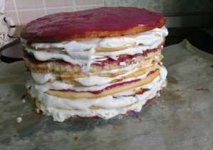 """коржи для торта """"Молочная девочка"""" с кремом"""