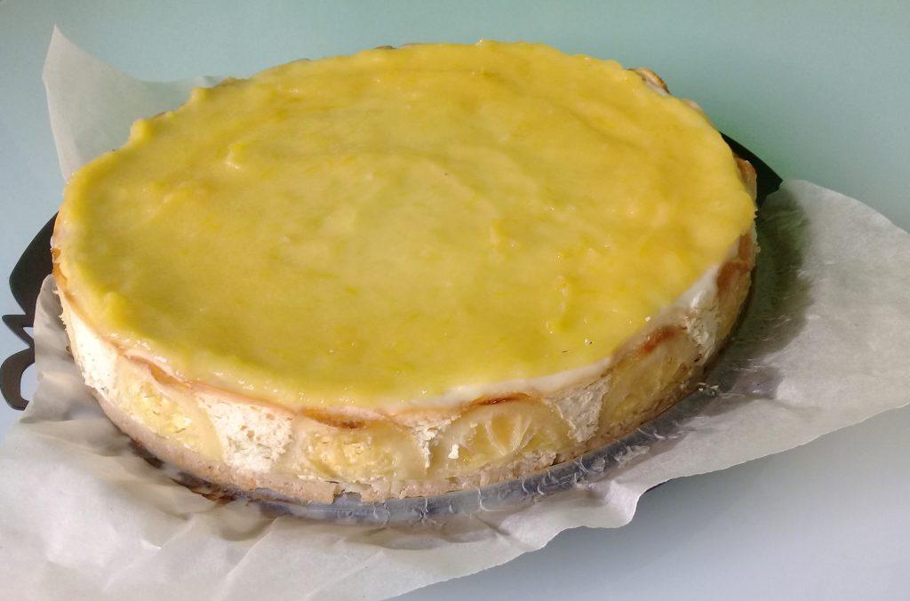 лимонный чизкейк с лимонным курдом