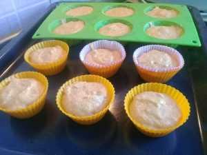 тесто для кексов в формочках
