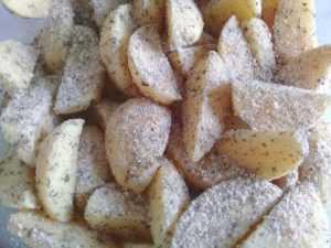 картофель в сухарной крошке