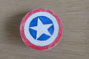 щит капитана Америки из картона