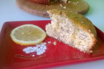 лимонный кекс с маком в духовке