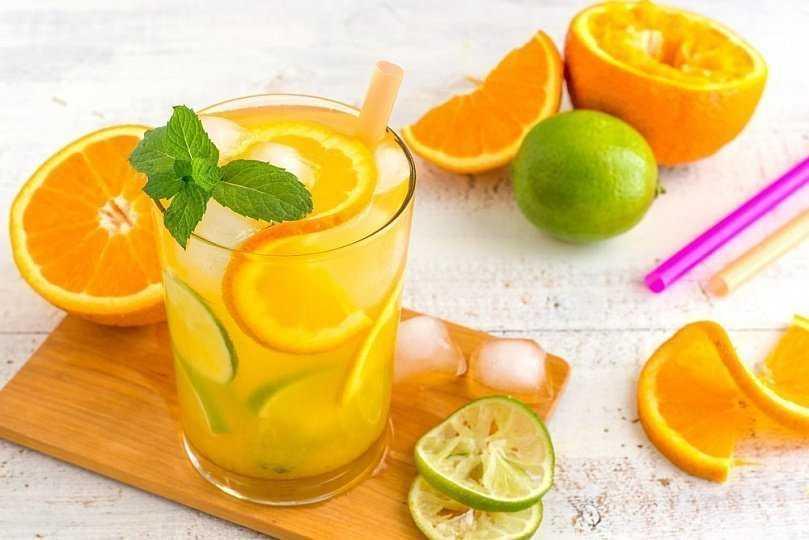 домашний лимонад из цитрусовых