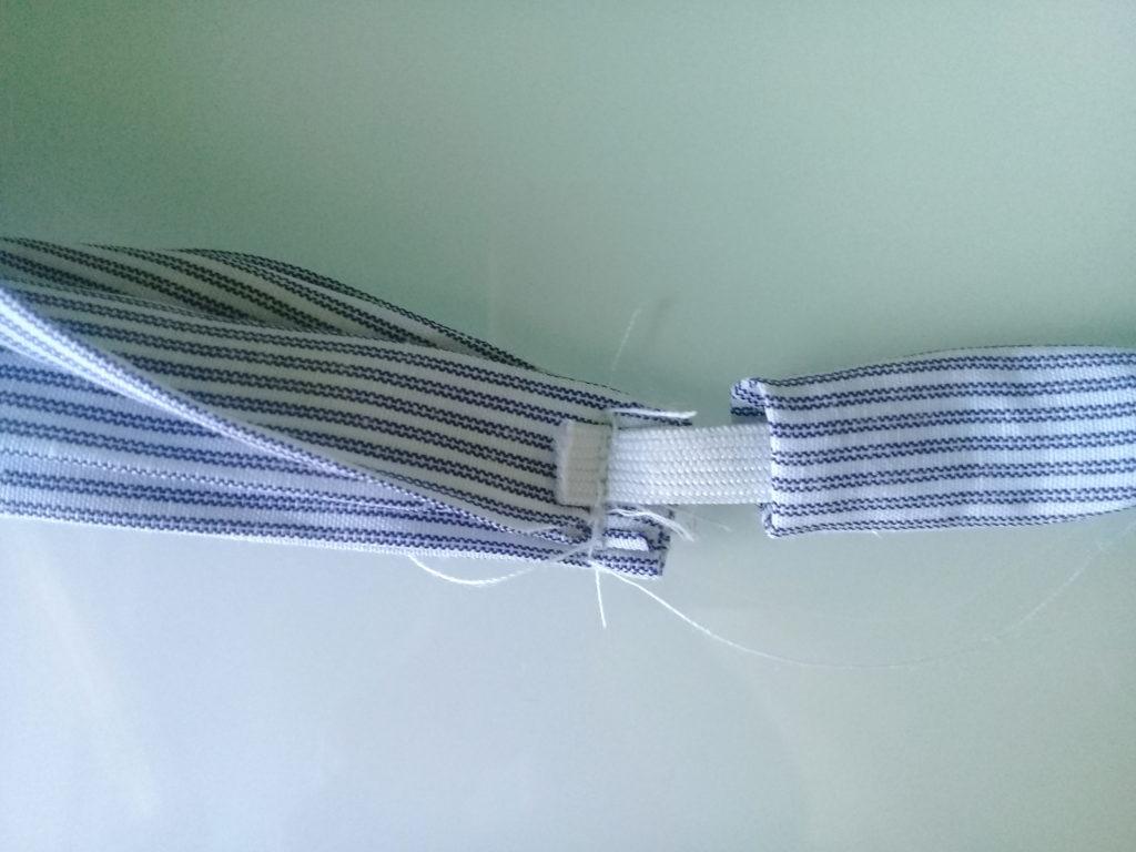 косынка пришивание резинки