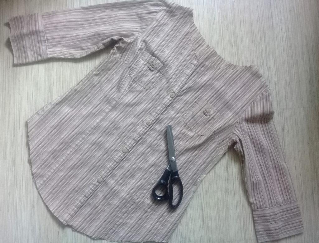 переделка рубашки в блузу