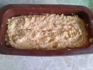 тесто для тыквенного кекса в форме