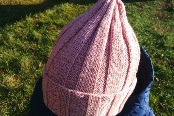 шапка спицами пошагово
